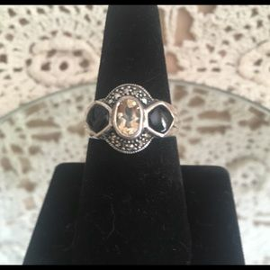 Vintage sterling statement ring